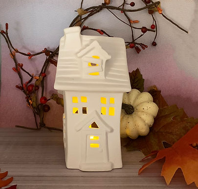 Spooky Haunted House Luminary