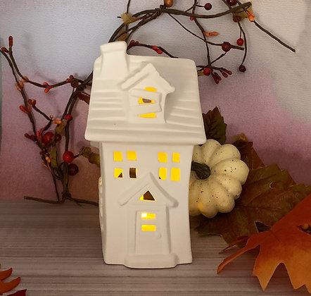 Spooky Haunted House Luminary