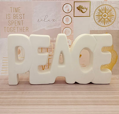 """Peace"" Ceramic Take N Make Kit, Artist Gift"