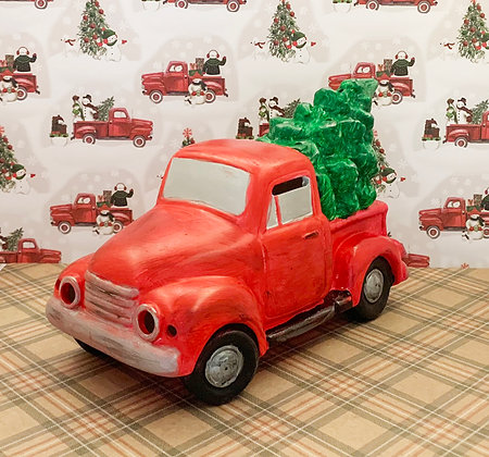 Old Fashion Truck w Tree Ceramic Painting Kit, Luminary, Christmas Gift