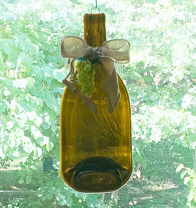 Wine Bottle Tray/Wall Hanging-Slim Neck