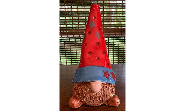Tea-Light Gnome-Red/Blue