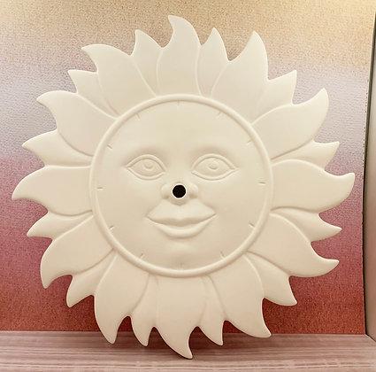 Sun Burst Clock with Clock Mechanism
