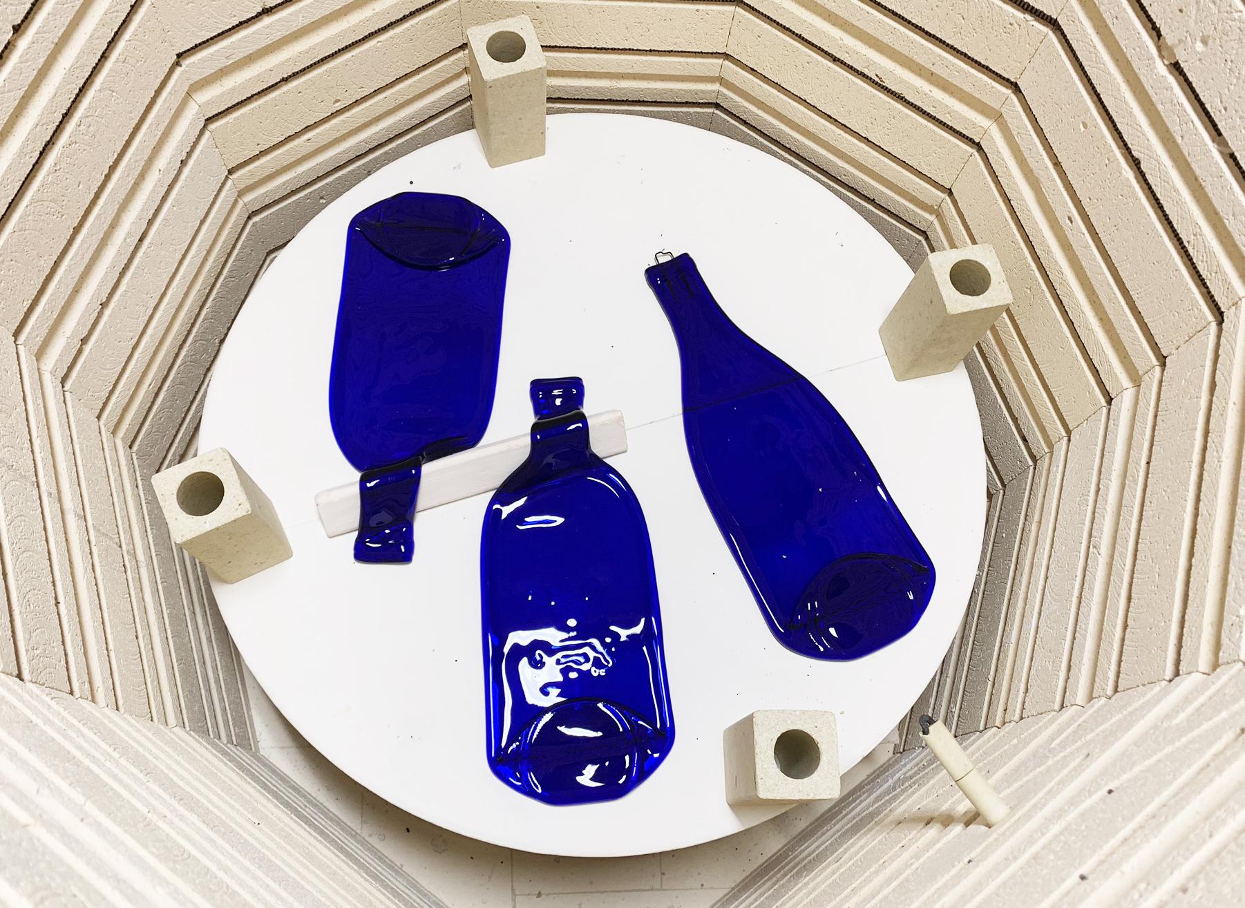 Beautiful Cobalt Blue Bottles for serving your favorite snacks!