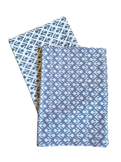 Blue Bhuti Tea Towel Set of 2