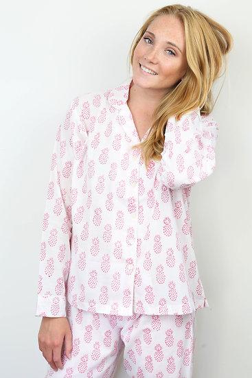 Pink Pineapple Long Pyjamas