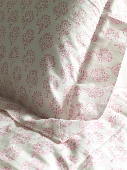 Pink Sprig Single Duvet Set