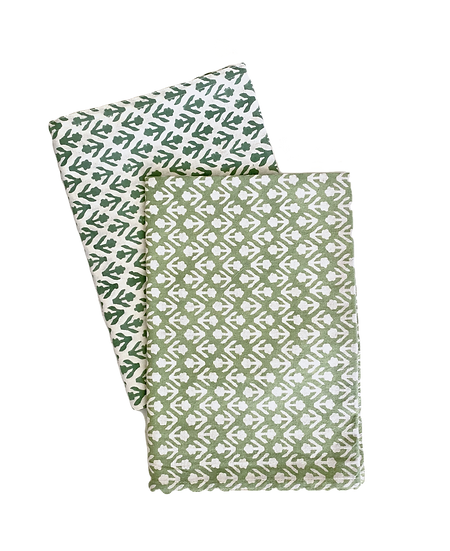Green Bhuti Tea Towel Set of 2