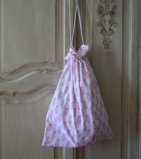 Pink Pineapple Laundry Bag