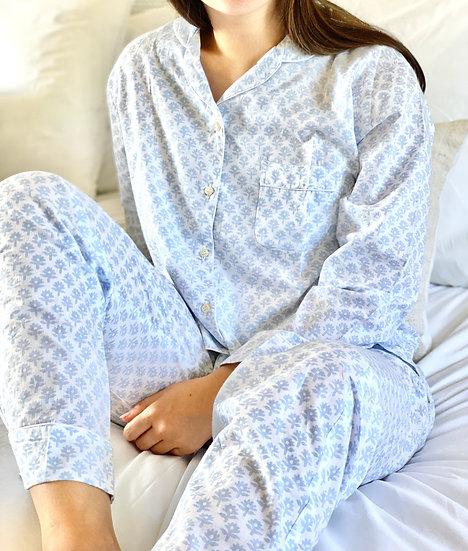 Blue Flower Bhuti Long Pyjamas