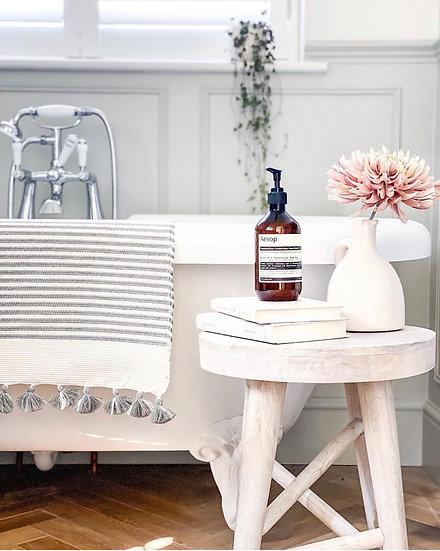 Handwoven Tasselled Bath Mat
