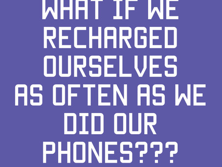 Do you recharge yourself?