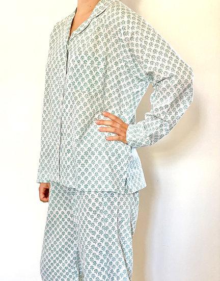Green Flower Bhuti Long Pyjamas