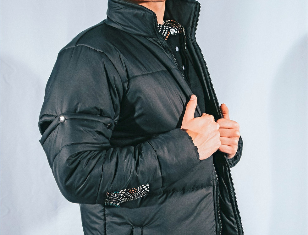Black Puffer Jacket (2-in-1)
