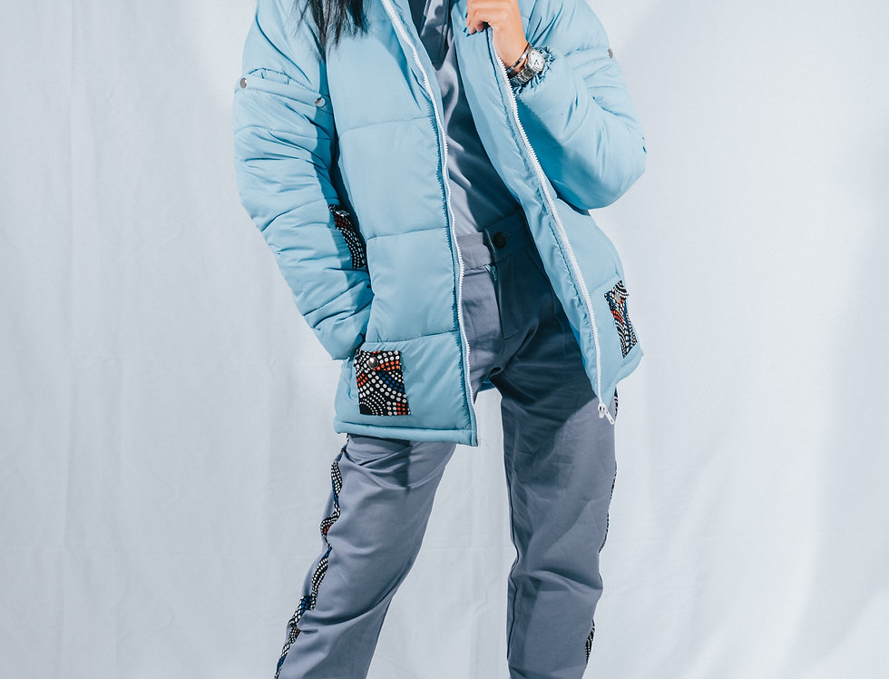 Blue Puffer Jacket (2-in-1)