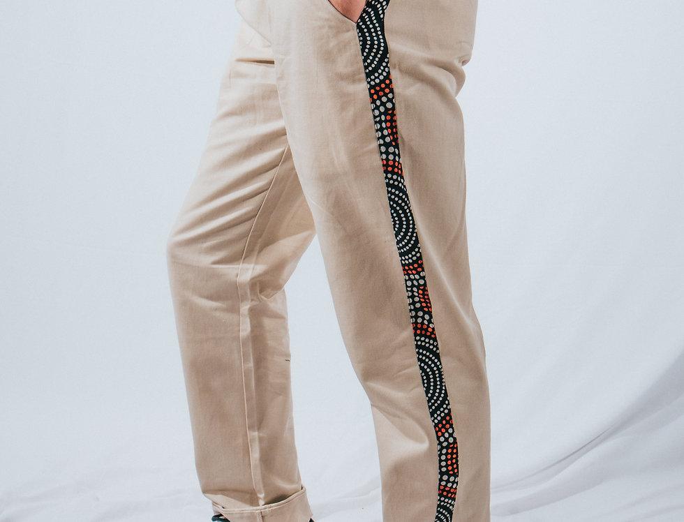 Beige Classic Pants
