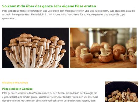 Pilze frisch aus dem eigenen Anbau