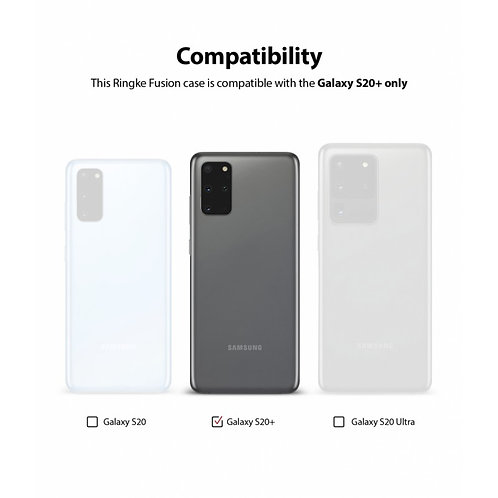 Чехол Ringke Fusion для Samsung Galaxy S20 Plus Smoke Black