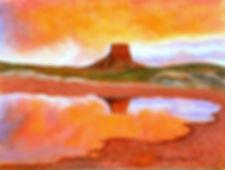 Sunset Reflection Southwest Painting