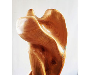 Contemporary abstract wood sculpture