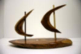 Organic Form Wood Sculpture. Dobe Art Studio. Kevin Doberstein