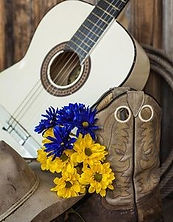 cowboy hat, guitar, flowers_BRMOS.jpg