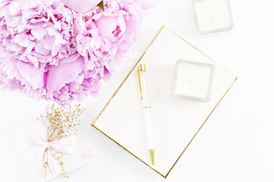 Peonies-and-gold-desk-styled-stock-photo