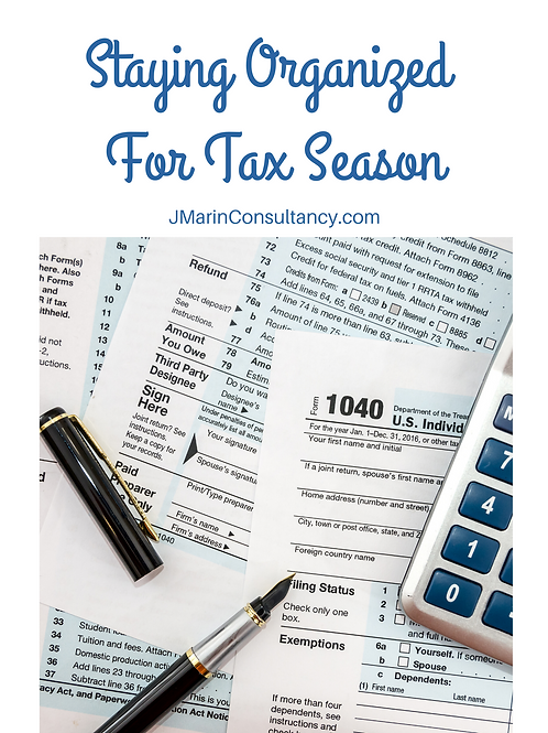 Staying Organized  For Tax Season