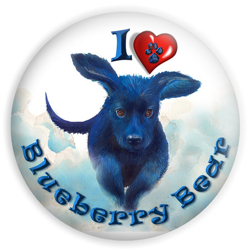Blueberry Bear Pin Button