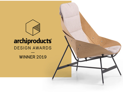 Alias wins the Archiproducts Design Awards  with Alfredo Häberli's TIME armchair