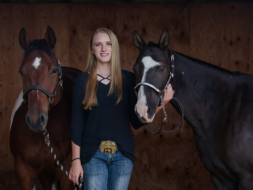 Lainey, Raider, & Button | Sheridan, WY | Fall Equine Session