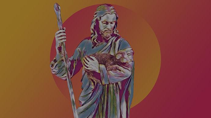 The Care of Christ Shepherd Lamb Jesus G