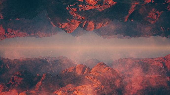 Peaks And Valleys Desert Mountain Split