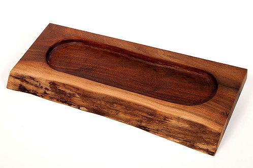 """24"""" Walnut 1 lg section tray"""
