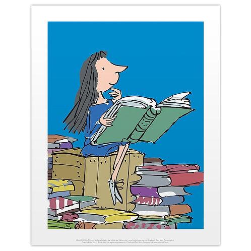11 x 14 Print of Matilda Reading