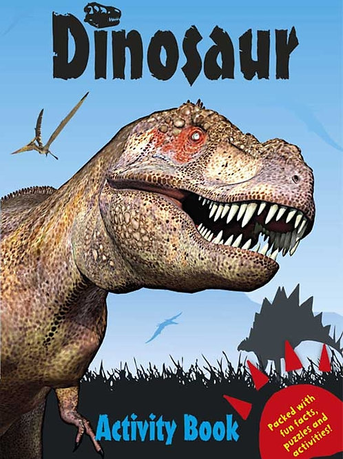 DINOSAUR ACTIVITY BOOK - BLUE