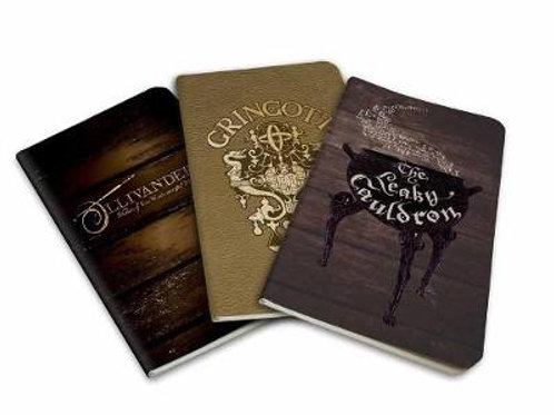 Harry Potter: Diagon Alley Pocket Notebook Collection (Set of 3) (Paperback)