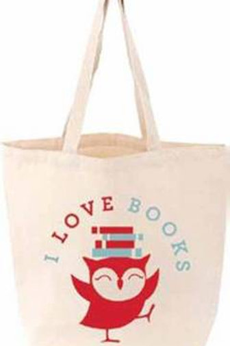 I Love Books Littlelit Tote Bag - LittleLit