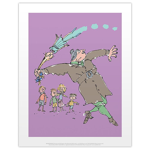 11 x 14 Print of Miss Trunchbull throwing Amanda by the Pigtails