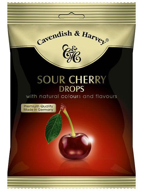 C&H Sour Cherry Drops 100g (Suitable for Vegetarians)