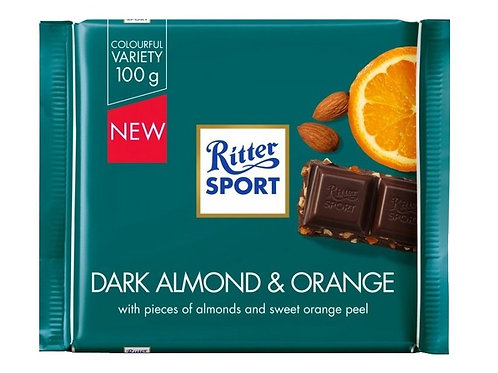 Ritter Sport Dark Almond & Orange 100g