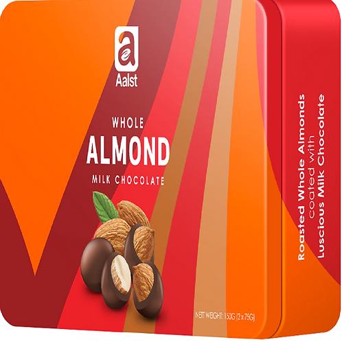 Aalst Whole Almond Milk Chocolate Tin 150g