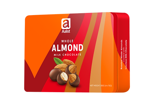 Aalst Whole Almond Milk Chocolate Tin 300g