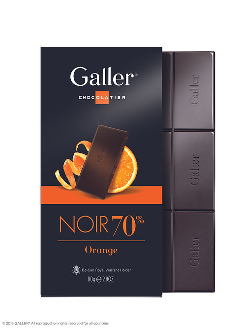 Galler Tablet Dark 70% Orange 80g