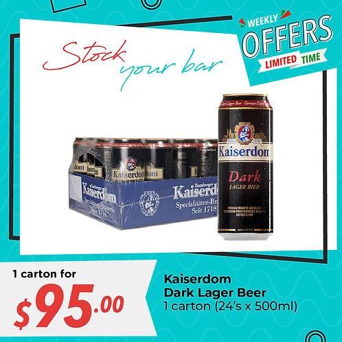 (BEER) Kaiserdom Dark Lager Beer 24x500ml