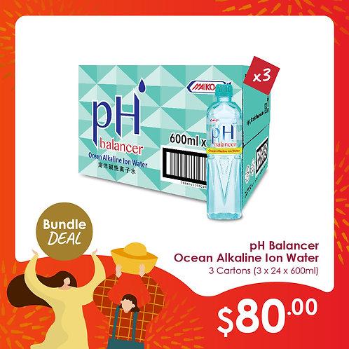 pH Balancer Ocean Alkaline Ion Water (24x600ml)