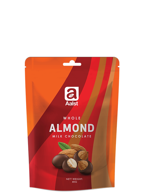 Aalst Whole Almond Milk Chocolate Doypack 40g