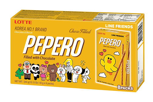 Lotte Choco Filled Pepero Big Pack 344g