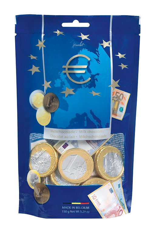 Hamlet Bag Golden Coins & Banknotes Milk Chocolate 150g
