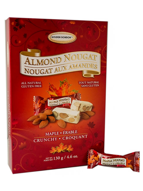 GBB Crunchy Almond Nougat - Maple Giftbox 130g